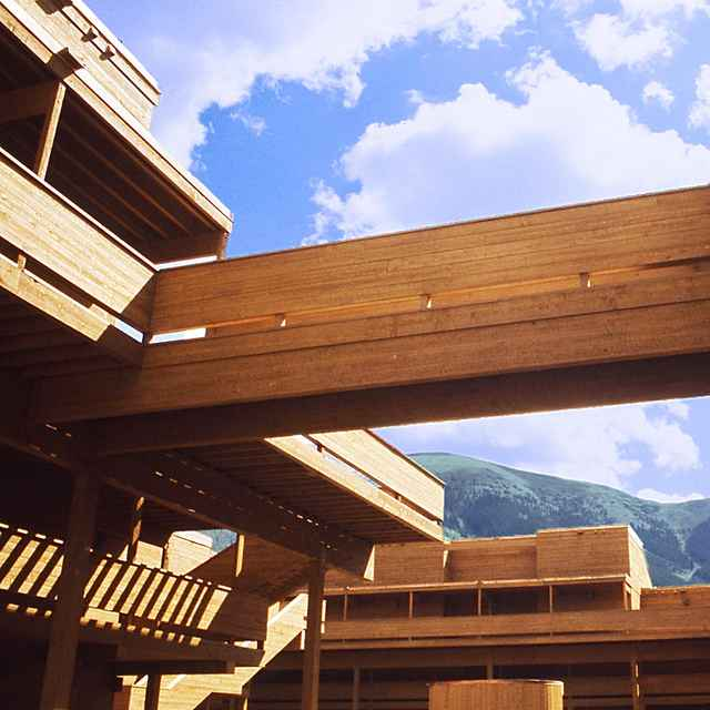 Village Point Condo Units with bridges and walkways, Copper Mountain CO